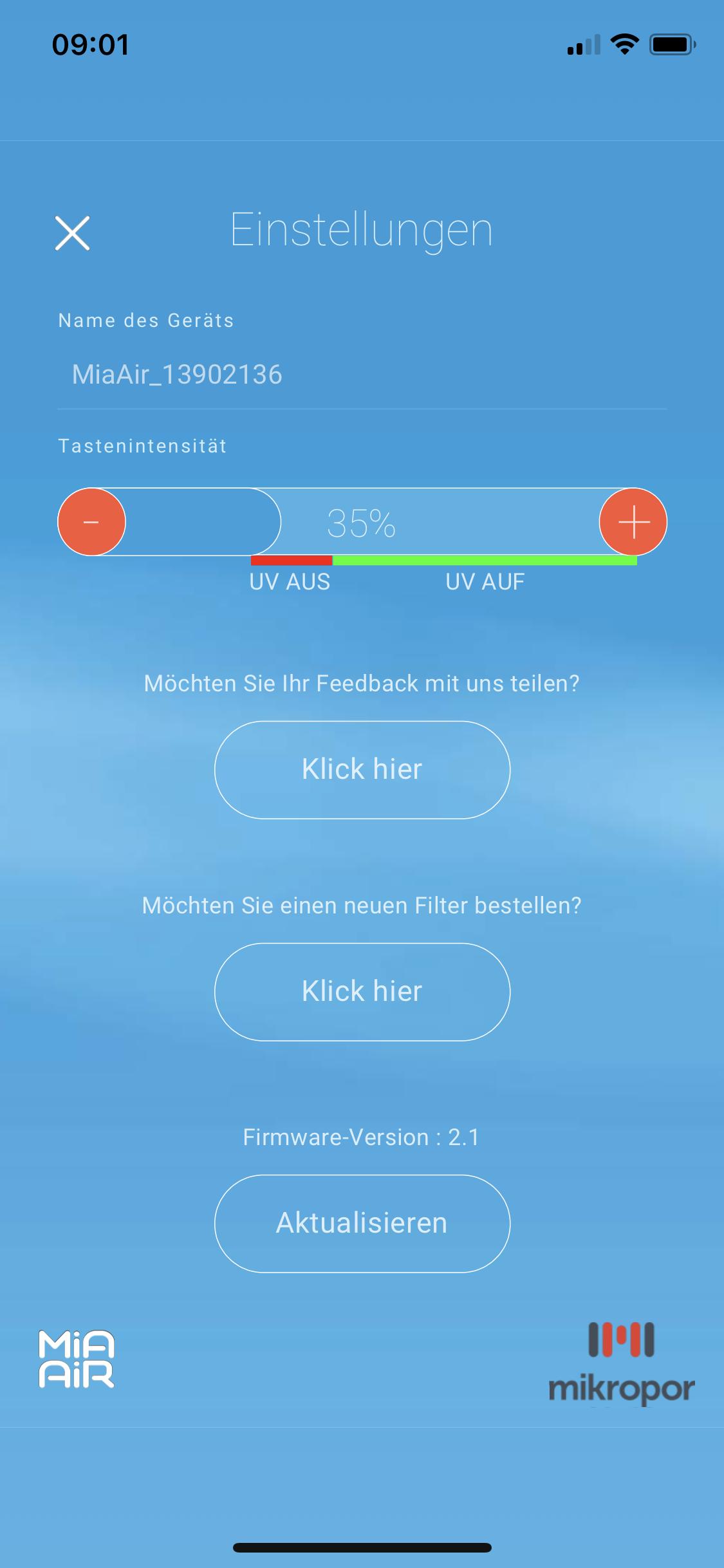 Mia Air 2 App