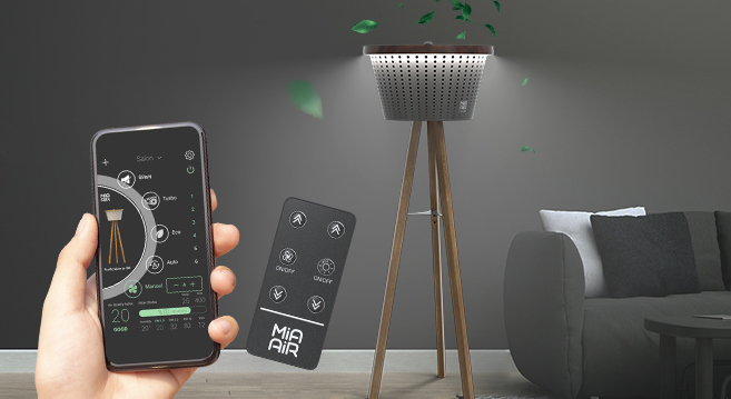 Mia Air Lamp App und Fernbedienung